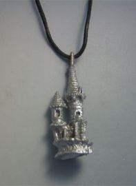 colgante Camelot castillo de plata amuleto celta