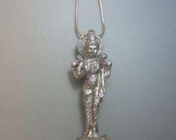 colgante Lakshmi diosa de plata maciza