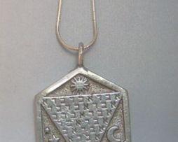 talismán abracadabra abraxas colgante de plata