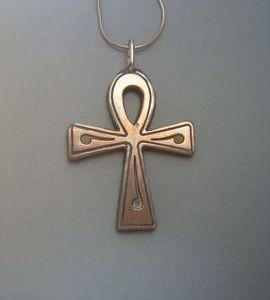 croix Egipte anj pendentif en argent