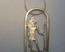 colgante Anubis dios de Egipto amuleto en plata de ley