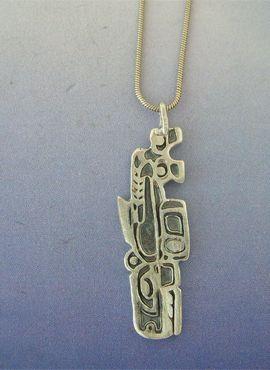 colgante ballena inuit amuleto esquimal