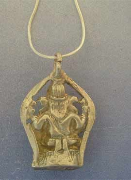 colgante Ganesha dios elefante parte trasera amuleto macizo