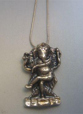 colgante Ganesha hindú amuleto de plata