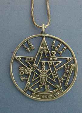 tetragrammaton de plata de ley talismán colgante