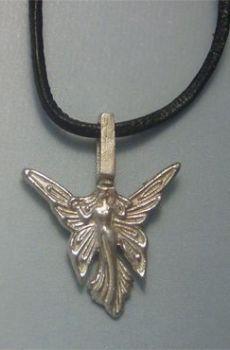 colgante hada de plata Titania amuleto