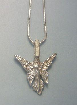 colgante hada Titania amuleto de plata