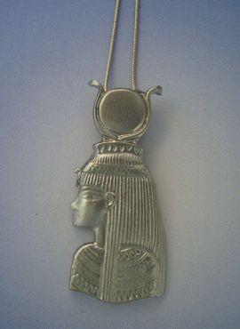 colgante diosa Isis Ast gran colgante busto de la diosa en plata de ley