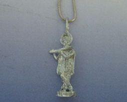 colgante krishna colgante de plata