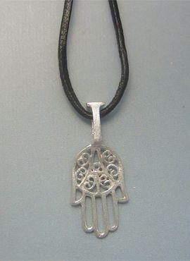 colgante mano Fátima amuleto magrebí de plata
