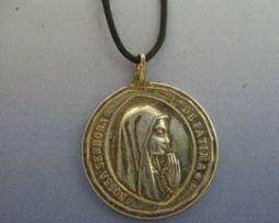 medalla virgen de Fátima en plata de ley gravada por ambas caras