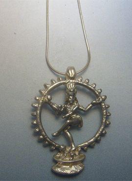 colgante shiva danzante dios hindu amuleto de plata