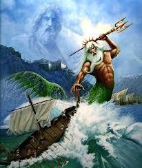 colgante tridente Poseidón está inspirado en el dios Neptuno