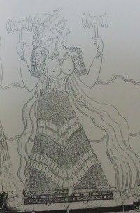 diosa labrys sacerdotisa doble hacha