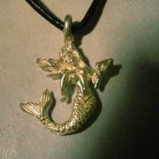 amuleto sirenita de plata colgante