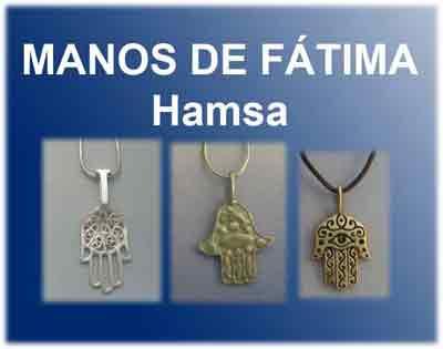catálogo de Hamsa mano de Fátima de plata