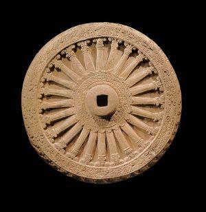 Dharmachakra o rueda del dharma símbolo budista
