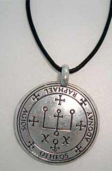 talismán colgante sello de Raphael Rafael plata