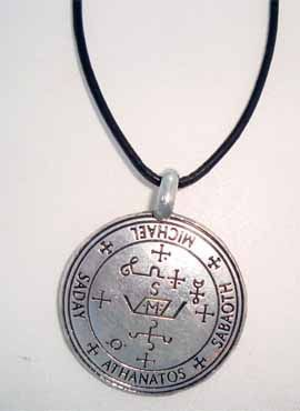 sello Miguel arcangel colgante talismán de plata