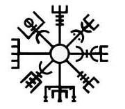 vegvísir dibujo símbolo
