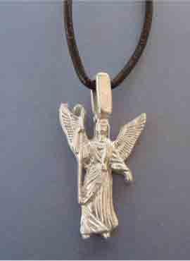colgante ángel Rafael plata