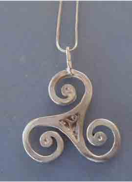 triskell celta colgante de plata