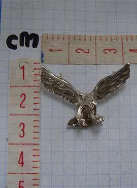 colgante de águila de plata medidas