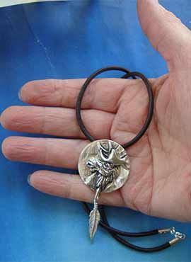 amuleto alce totem guía colgante
