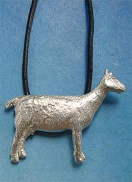 colgante cabra de plata amuleto