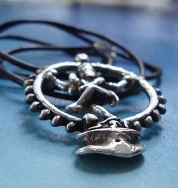 joya de plata de Shiva Nataraja danzante colgante dios hindú plata