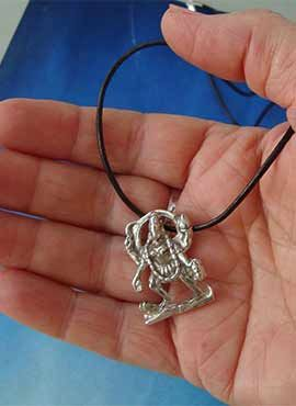 colgante diosa hindu kali de plata