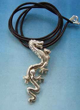 joya de plata del dragón chino lung