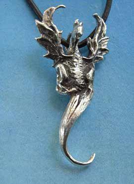 colgante dragon de aire henham plata