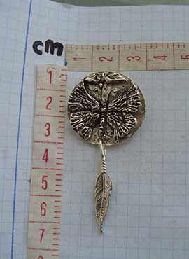 colgante mariposa amuleto de plata unisex