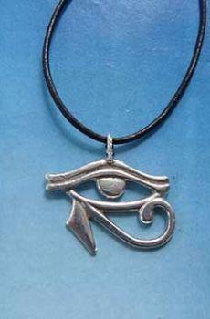 colgante ojo de Horus udjat amuleto egipcio de plata