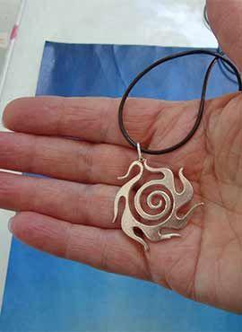 joya sol celta beltane amuleto de plata