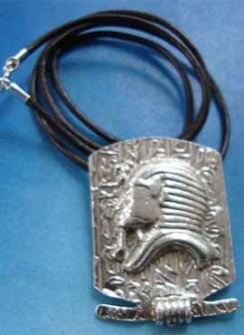 colgante mascara tutankamon faraon egipcio colgante plata