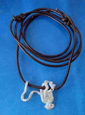 collar simios y monos de plata