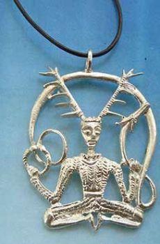 Cernunnos dios celta collar de plata