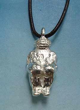 colgante diosa venus de willendorf plata