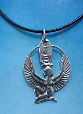 colgante diosa Isis de Egipto plata