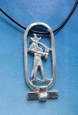 dios thot en cartucho colgante de plata