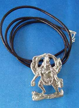 colgante diosa kali colgante plata