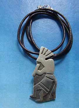 colgante kokopelli plata