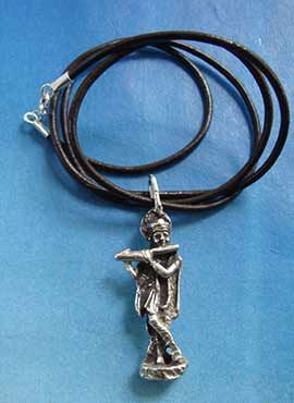 joya dios Krishna hindú colgante de plata