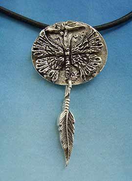 colgante unisex mariposa amuleto etnico