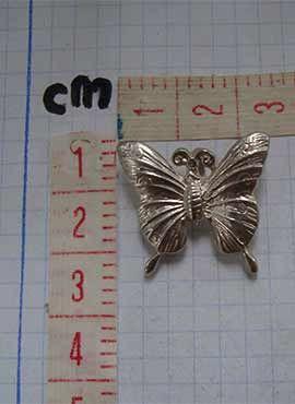 mariposa de plata medidas joya