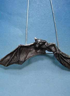 colgante murciélago joya de plata