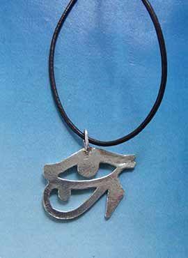 colgante ojo de Horus por detras