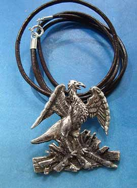 collar ave fenix phoenix de plata